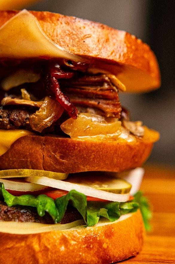 Close Up of LumberJack Burger